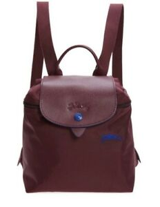 New Longchamp Le Pliage Nylon Club Mini Foldable Backpack In Plum $125.00