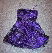 Cute Sexy Womens 5/6 Masquerade Formal Dress Black Purple Prom FANCY VGUC