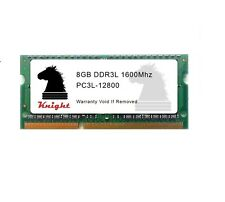 8GB DDR3 1600 MHZ PC3L 12800 SODIMM DUAL VOLTAGE  for LAPTOP