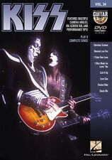 Guitar Play-Along KISS Lick It Up Heavy Rock Learn to Play Guitar TAB Music DVD