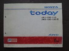 JDM HONDA TODAY JA1 JW2 Original Genuine Parts List Catalog