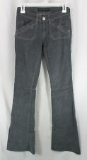 Rock Republic Grey Corduroy Denim Womens Size 0, 25 Flare Low Rise Sample 2009
