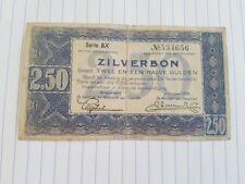 Nederland , Zilverbon 2,5 gulden 1938 , serie BX 534656
