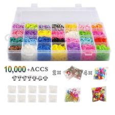 10,000 Rubber Bands Refill Pack Colorful Loom Kit Organizer for Kids Bracelet