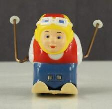 Vintage Toy Mechanical Tumbling Daredevil Skier Hard Plastic George Borgfeldt