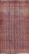 Vintage All-Over Traditional Mahal Hand-made Area Rug Oriental Wool Carpet 5'x9'