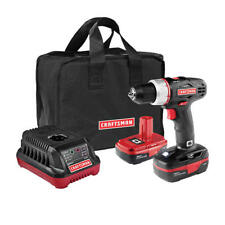 CRAFTSMAN 19.2V VOLT Cordless Drill DRIVER w 2 Lithium Batteries Charger Bag NEW