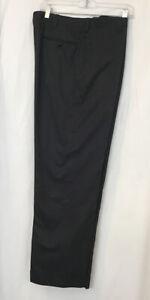 cesare attolini Pants Black Chambery Cotton Cuff Hem Zip Up Size 34×30