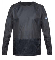 Nike Run Crew Neck Packable Running Jacket Black Size S Small 928497