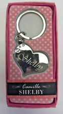 SHELBY Camille heart silver color personalized KEYCHAIN BRAND NEW IN PACKAGE