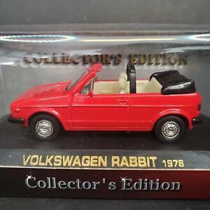 1978 VW RABBIT Die Cast Volkswagen Road Legends Collectors Edition 1:43