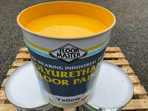 Extra Tough Floor Master Industrial Garage Yellow Floor Paint 20ltr Hard Wearing