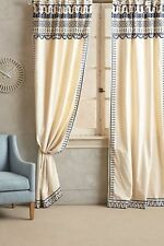 Anthropologie Embroidered Aravalli Curtain- 42x96
