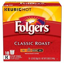 Folgers Classic Roast Coffee 18 to 90 Keurig K cups Pick Any Quantity FREE SHIP