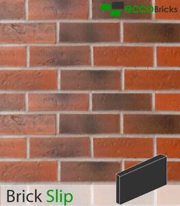 Antique Avon Red Brick Slip Wall Cladding Purpose-Made-Decorative Wall (NEW)
