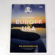 Ryder Cup 2018 Official Program Europe vs USA Le Golf National Paris France