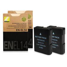 2 x Battery for Nikon EN-EL14 D3100 D3200 D5100 P7000 P7100 UK Fast