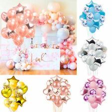 14 Stück Luftballons Konfetti Helium Ballons für Hochzeit Geburtstag Party Deko