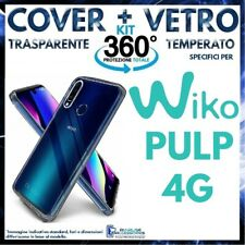 COVER TRASPARENTE + PELLICOLA VETRO TEMPERATO Per WIKO PULP 4G Ultra Slim TPU