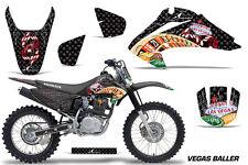 Honda CRF150 CRF230F Graphics Kit Dirt Bike Wrap MX Stickers Decals 03-07 VB BLK