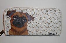 Brussels Griffon Petit Brabancon dog Wallet for Women Hand Painted Vegan