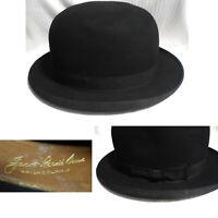 Vintage Penn-Craft Stetson Jacob Reed's Sons Black Felt Derby Bowler Size 7 1/8