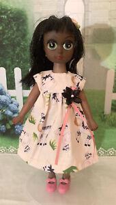 """1960s Vintage Susie Sad Eyes 8"""" Doll Clone OOAK AA African American Doll"""