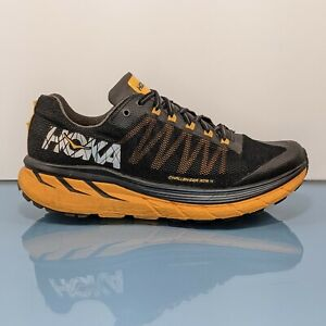 HOKA ONE ONE Challenger ATR 4 Mens Size 10 Running Training Shoes Orange Black