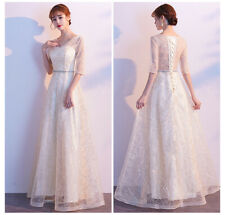 New Evening Formal Party Ball Gown Prom Bridesmaid Sequins Long Host Dress MSF16