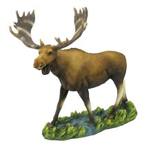 "13.25"" Moose Figurine Statue Wild Animal Home Decor Figure Sculpture"