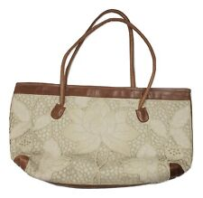 Uluwatu Handmade Balinese Lace Tote Bag Floral Intricate Detailed Pattern