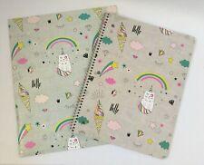 New Cat Unicorn 2 Pocket Portfolio And Notebook Set Kids Teens Adults Cat Lovers