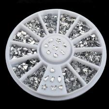 Lots Style Silver Rhinestone 3D Nail Art Glitter Stickers Diamonds Manicure Tips