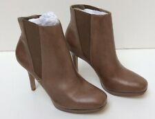 """River Island Beige Ankle Boots 4"""" Heels UK 8 New Boxed (890Z25)"""