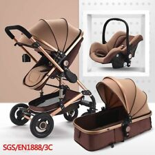 Baby Stroller 3 in 1 Multifunctional Car Seat Sleeping Basket Folding Carriage