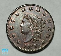 1827 Coronet Head Large Cent   --  MAKE US AN OFFER!  #B0004