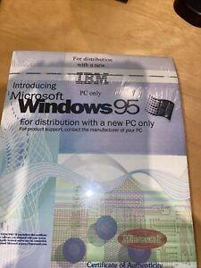 WINDOWS 95 ORIGINAL MICROSOFT Floppy Disks! Full Package W/Certificate of Authen