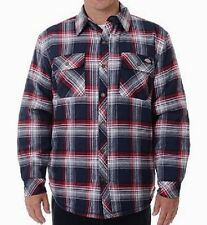 Dickies Jackets Mens Sherpa Lined Flannel Snap Overshirt 7062 Plaid 2XL MSRP $55