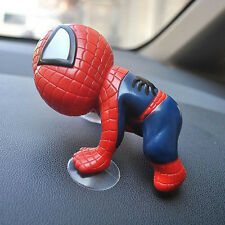 Auto Track Mirror Windshield Dashboard RedSpiderman Doll Suction Cups Cute