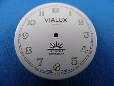 Vintage VIALUX -Super- Pocket Watch Dial 33mm -Swiss Made- Night Glow  #115