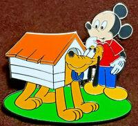 DISNEY PIN PLUTO LE 1000 Mickey Doghouse MYSTERY 90th Anniv LE1000 w/Box