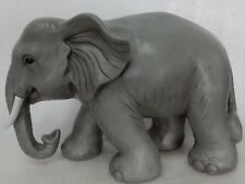 Elephant With Trunk Down Figurine - Life Like Statue Decor Home / Garden New