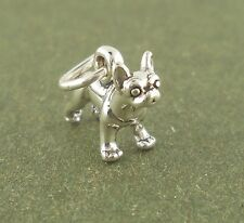 Boston Terrier Dog Charm mini Sterling Silver Pendant Animal Pet
