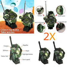 2PCS 7 In 1 Walkie Talkie Watch Child Wrist Watch Radio Outdoor Interphone Toy W