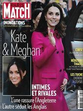 PARIS MATCH n°3586 01/02/2018 Middleton & Markle_Inondations Marne_Héros Thalys