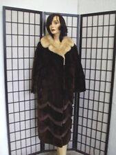 ~MINT & SUPER SOFT ARCTIC BEAVER FUR COAT JACKET W  MINK WOMEN WOMAN SZ10 MEDIUM