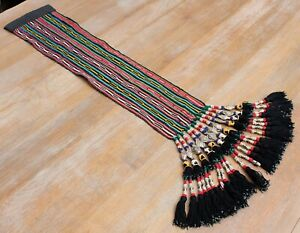 """5.91""""x34.25"""" Tassel Hair Dress Belly Dance Uzbek VINTAGE FAST Shipment UPS 11470"""