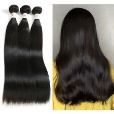 100% Human Hair Extensions Natural Real Remy Hair 16''Straight Hair bundles Weft