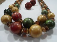 Vintage 2-Strand Graduated Bead Necklace  Beautiful