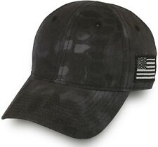 Kryptek Camo American Flag Cap, Typhon Black